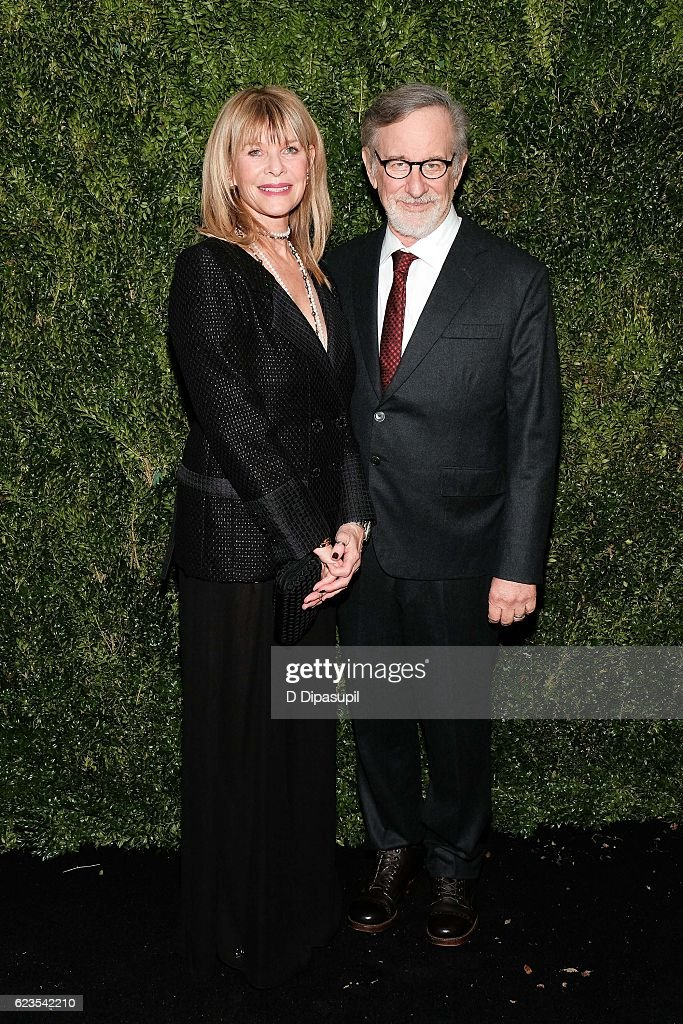 Kate Capshaw (L) and Steven Spielberg attend the 2016 Museum of Modern Art Film Benefit presented by Chanel - A Tribute to Tom Hanks at Museum of Modern Art on November 15, 2016 in New York City.