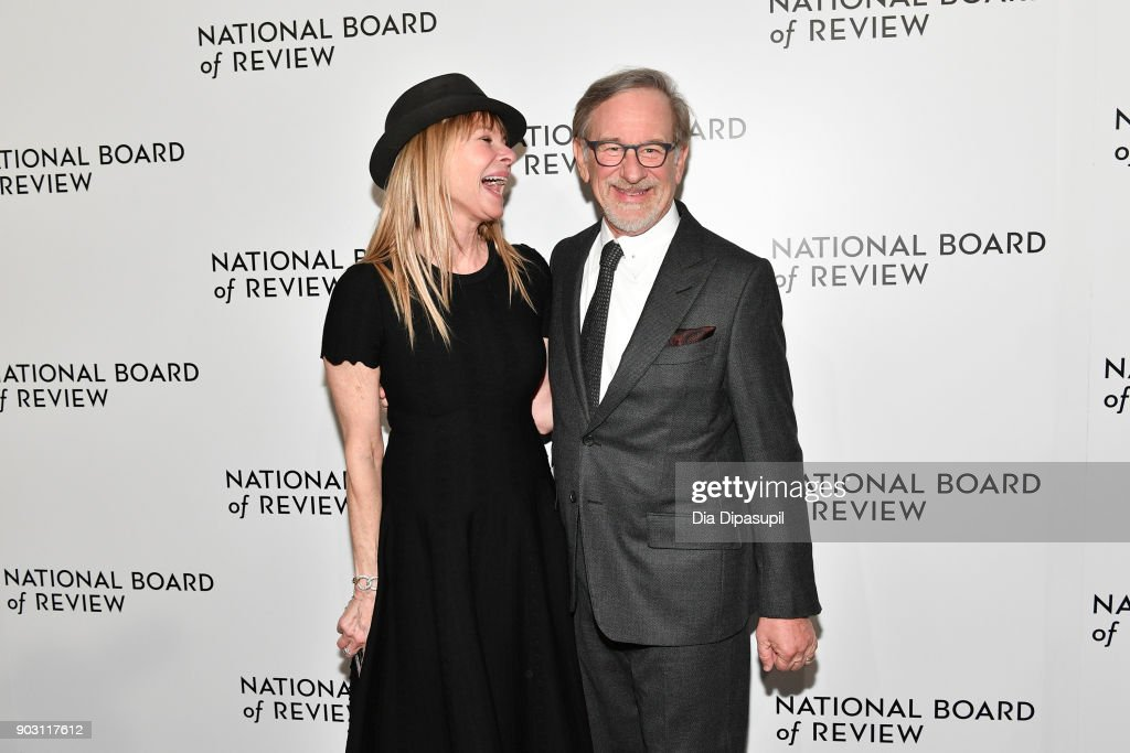 Kate Capshaw (L) and Steven Spielberg attend the 2018 National Board of Review Awards Gala at Cipriani 42nd Street on January 9, 2018 in New York City.