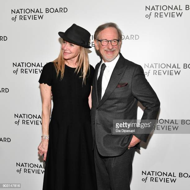 Kate Capshaw and Steven Spielberg attend the 2018 National Board of Review Awards Gala at Cipriani 42nd Street on January 9 2018 in New York City