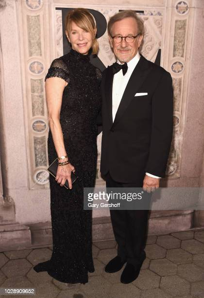 Kate Capshaw and Steven Spielberg attend the Ralph Lauren 50th Anniversary event during New York Fashion Week at Bethesda Terrace on September 7 2018...