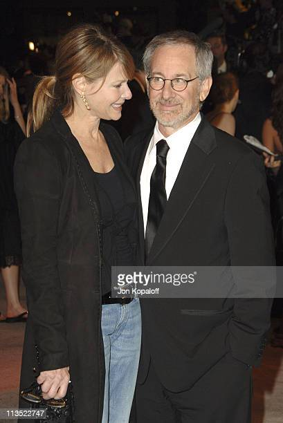 Kate Capshaw and Steven Spielberg during 2006 Vanity Fair Oscar Party at Morton's in West Hollywood California United States