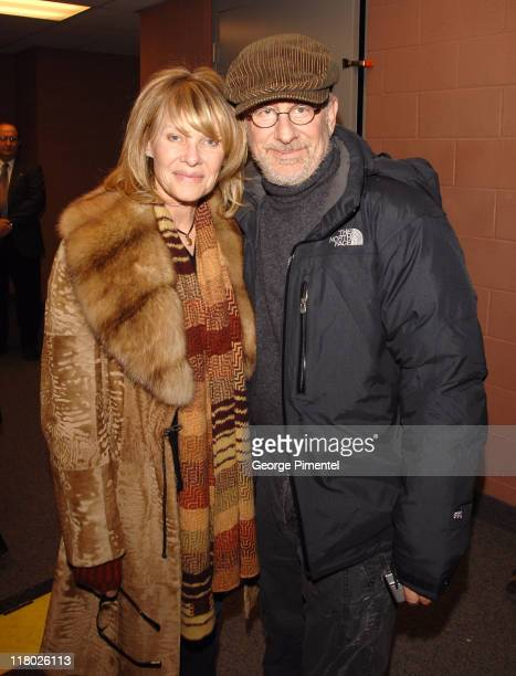 Kate Capshaw and Steven Spielberg during 2007 Sundance Film Festival The Good Night Premiere QA at Eccles Theatre in Park City Utah United States