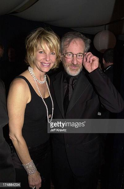 Kate Capshaw and Steven Spielberg during DreamWorks Oscar Party 2001