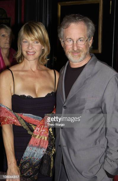 Kate Capshaw and Steven Spielberg during Road to Perdition New York Premiere at Ziegfeld Theatre in New York City New York United States