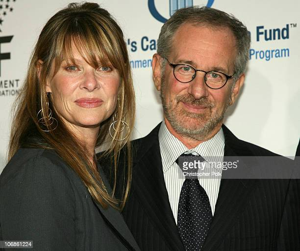 Kate Capshaw and Steven Spielberg during Saks Fifth Avenue's Unforgettable Evening Benefiting Women's Cancer Research Fund Arrivals and Inside at The...