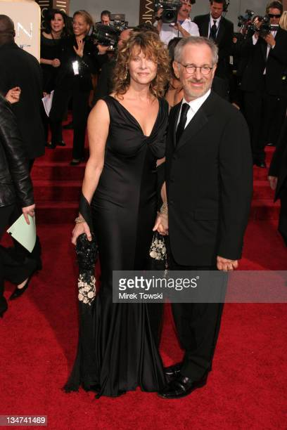 Kate Capshaw and Steven Spielberg during The 63rd Annual Golden Globe Awards Arrivals at Beverly Hilton Hotel in Beverly Hills California United...