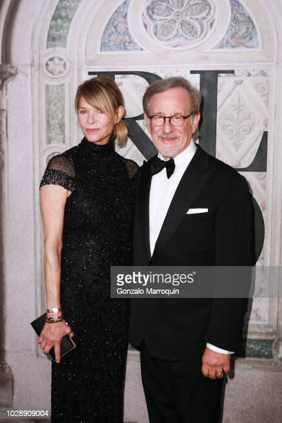 Kate Capshaw and Steven Spielberg during the Ralph Lauren 50th Anniversary September 2018 New York Fashion Week at Bethesda Terrace on September 7...