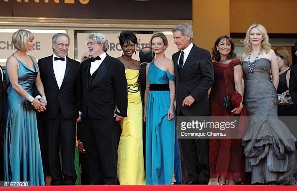 Kate Capshaw director Steven Spielberg writer George Lucas Melody Hoffman actress Calista Flockhart actor Harrison Ford actress Karen Allen and...