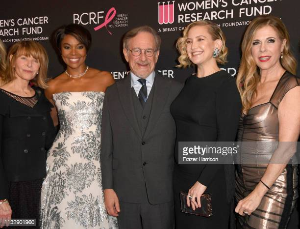 Kate Capshaw, Gabrielle Union, Steven Spielberg, Kate Hudson and Rita Wilson attend The Women's Cancer Research Fund's An Unforgettable Evening...