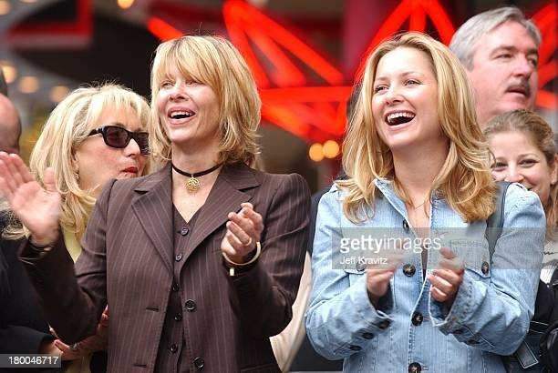Kate Capshaw & Jessica Capshaw during Spielberg Receives Star on Walk of Fame at Hollywood in Hollywood, CA, United States.
