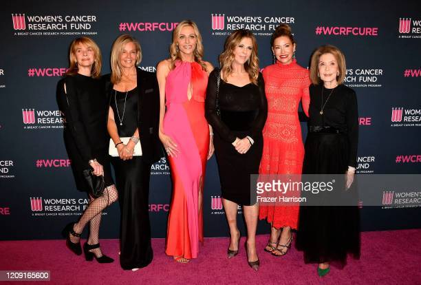 Kate Capshaw, Kelly Chapman Meyer, Jamie Tisch, Rita Wilson, Myra Biblowit, Quinn Ezralow, and Marion Laurie attend The Women's Cancer Research...