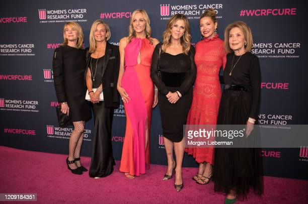 Kate Capshaw, Kelly Chapman Meyer, Jamie Tisch, Rita Wilson, Myra Biblowit, Quinn Ezralow, and Marion Laurie arrive at the Women's Cancer Research...