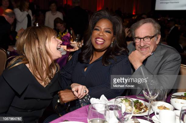 Kate Capshaw, Oprah Winfrey, and Steven Spielberg attend the Ambassadors For Humanity Gala Benefiting USC Shoah Foundation Honoring Rita Wilson And...