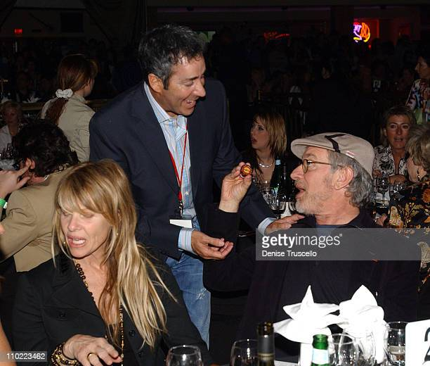 Kate Capshaw Robert Dover and Steven Spielberg during The Equestrian AIDS Foundation's 2nd Las Vegas Benefit at The Hard Rock Hotel and Casino in Las...