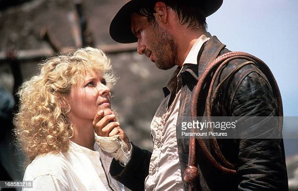 Kate Capshaw says goodbye to Harrison Ford in a scene from the film 'Indiana Jones And The Temple Of Doom' 1984