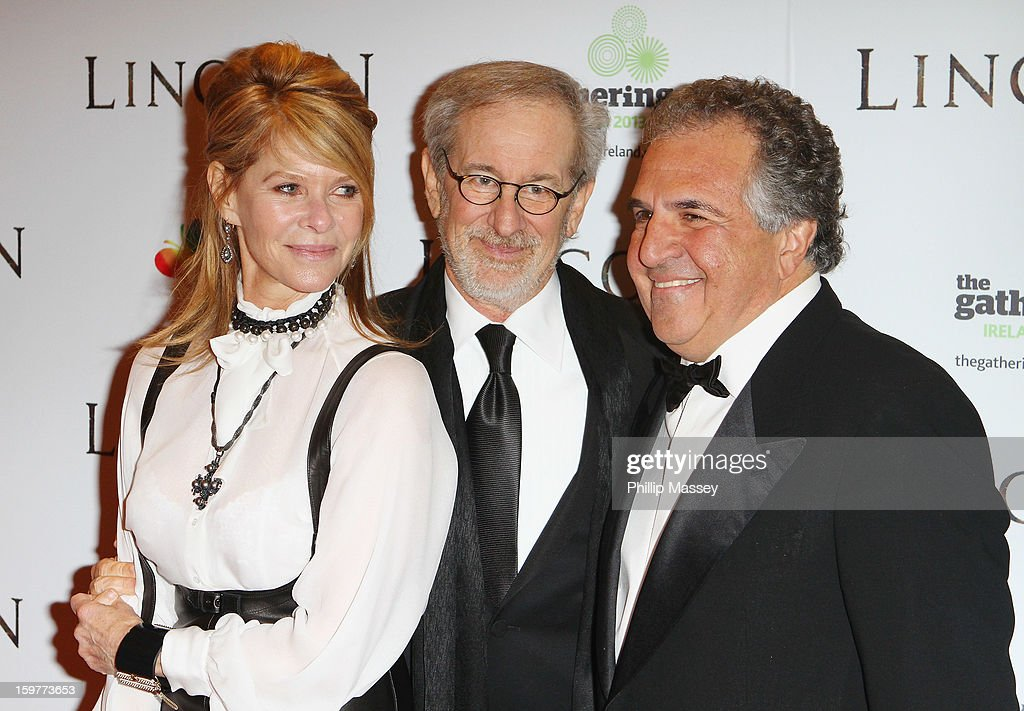 Kate Capshaw, Steven Spielberg and Jim Gianopulos attend the European premiere of 'Lincoln' on January 20, 2013 in Dublin, Ireland.