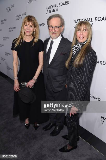 Kate Capshaw Steven Spielberg and National Board of Review President Annie Schulhof attend the The National Board Of Review Annual Awards Gala at...