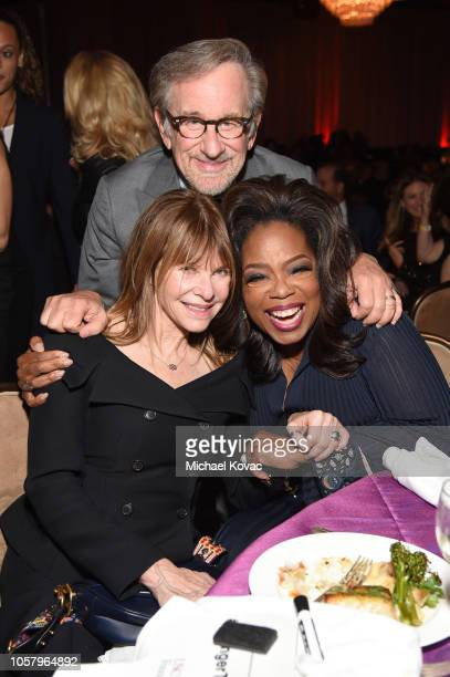 Kate Capshaw, Steven Spielberg, and Oprah Winfrey attend the Ambassadors For Humanity Gala Benefiting USC Shoah Foundation Honoring Rita Wilson And...
