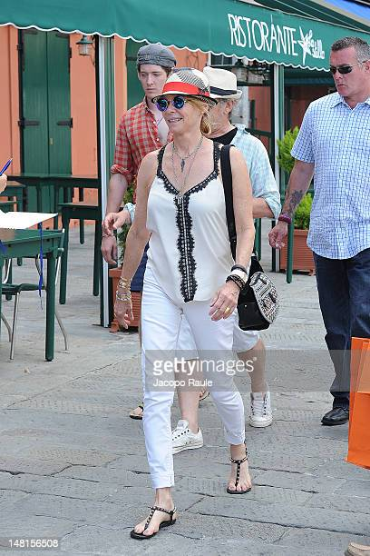 Kate Capshaw Steven Spielberg and their Sawyer Spielberg sighted on July 11 2012 in Portofino Italy