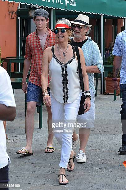 Kate Capshaw Steven Spielberg and their son Sawyer Spielberg sighted on July 11 2012 in Portofino Italy