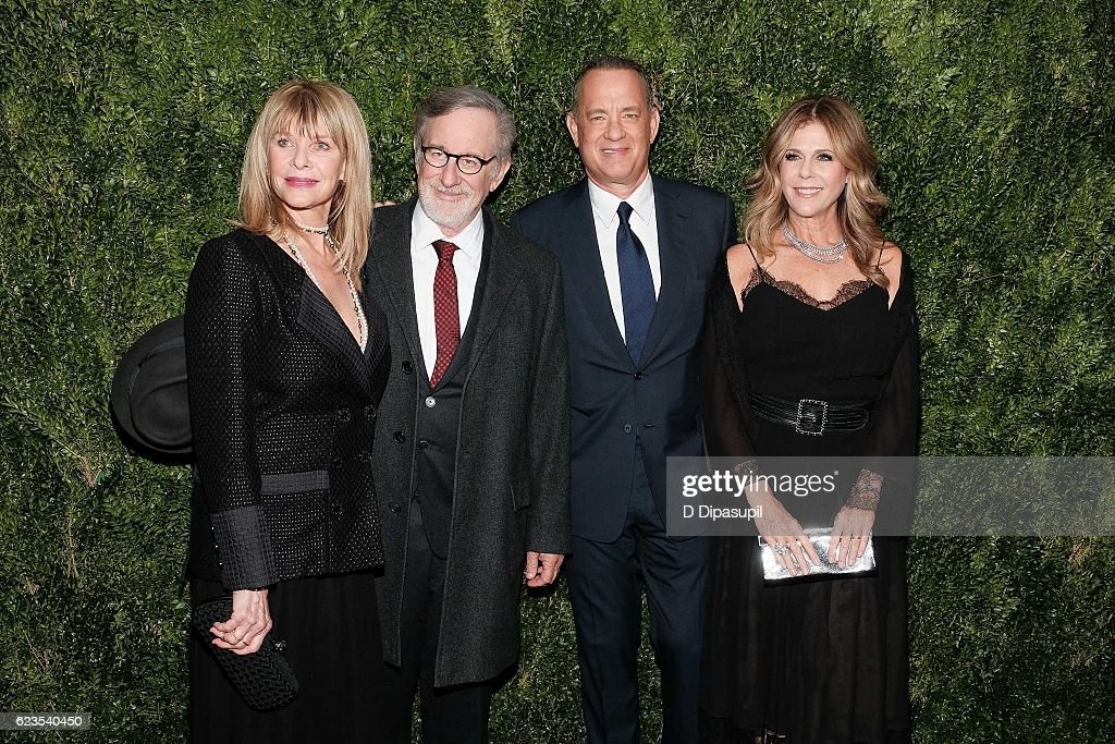Kate Capshaw, Steven Spielberg, Tom Hanks, and Rita Wilson attend the 2016 Museum of Modern Art Film Benefit presented by Chanel - A Tribute to Tom Hanks at Museum of Modern Art on November 15, 2016 in New York City.