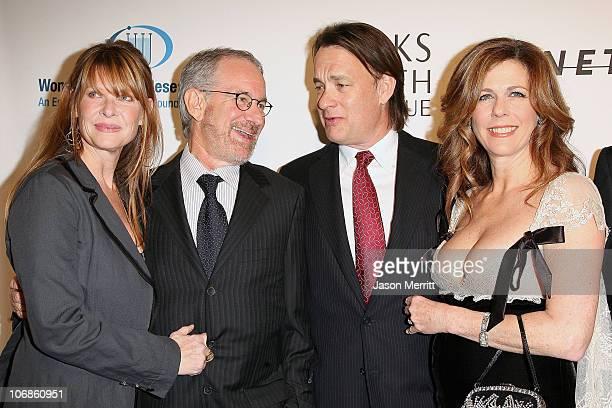 Kate Capshaw Steven Spielberg Tom Hanks and Rita Wilson