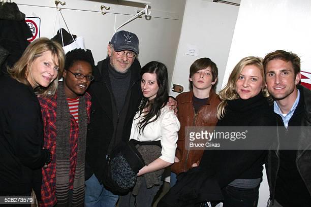 Kate Capshaw, Theo Spielberg, Steven Spielberg, Sasha Spielberg, Sawyer Spielberg, Jessica Capshaw and husband Christopher Gavagin