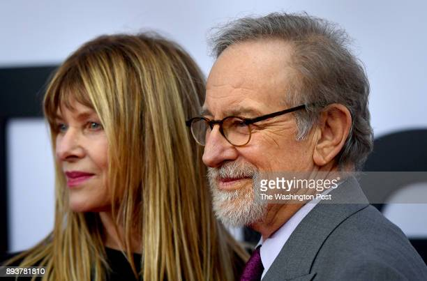 Kate Capshaw with husband Steven Spielberg at the premiere of the movie 'The Post' which is directed by Spielberg The world premiere of the movie...