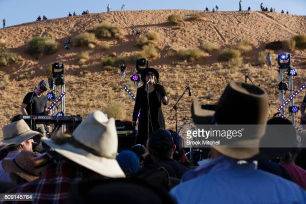 Kate Ceberano performs at the Big Red Bash music festival on July 5 2017 in Birdsville Australia