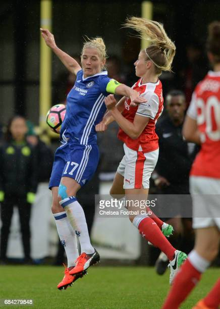 Kate Chapman of Chelsea during a WSL 1 match between Chelsea Ladies FC and Arsenal Ladies FC on May 17 2017 in Staines England