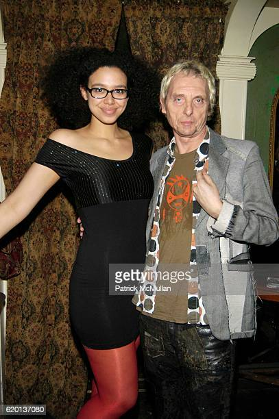 Kate Colmer and Bruno Wizzard attend The IQONS MAGAZINE Launch Party at The Box on February 3 2008 in New York City