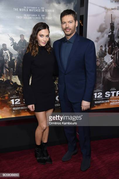 Kate Connick and Harry Connick Jr attend the world premiere of '12 Strong' at Jazz at Lincoln Center on January 16 2018 in New York City