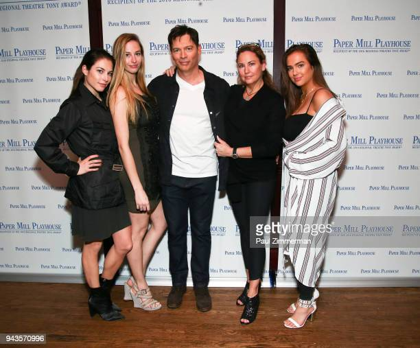 Kate Connick Georgia Connick Harry Connick Jr Jill Goodacre and Charlotte Connick attend The Sting Opening Night at South Mountain Tavern on April 8...
