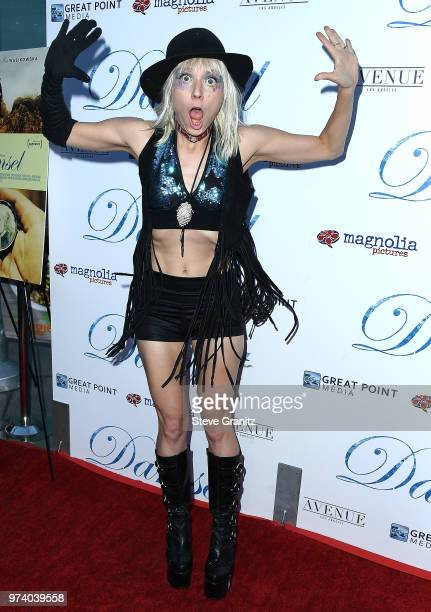 Kate Crash arrives at the Magnolia Pictures' 'Damsel' Premiere at ArcLight Hollywood on June 13 2018 in Hollywood California
