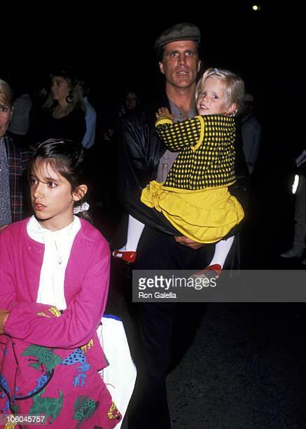 Kate Danson Ted Danson and Alexis Danson during Cirque du Soleil September 20 1989 at Santa Monica Pier in Santa Monica California United States