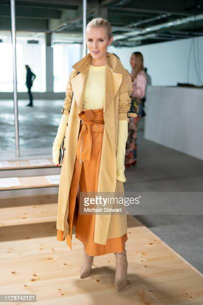 Kate Davidson Hudson attends the Tory Burch Fall Winter 2019 Fashion Show at Pier 17 on February 10 2019 in New York City