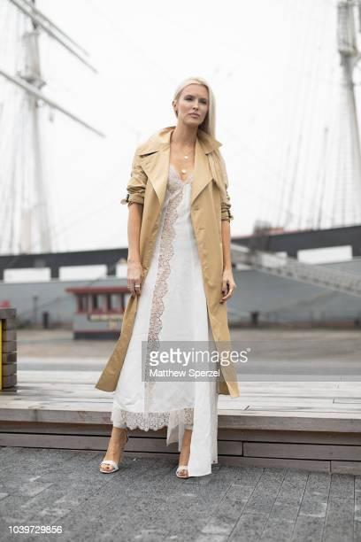Kate Davidson Hudson is seen on the street attending New York Fashion Week SS19 wearing Michael Kors on September 12 2018 in New York City