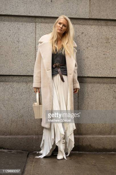 Kate Davidson Hudson is seen on the street during New York Fashion Week AW19 wearing Michael Kors on February 13, 2019 in New York City.