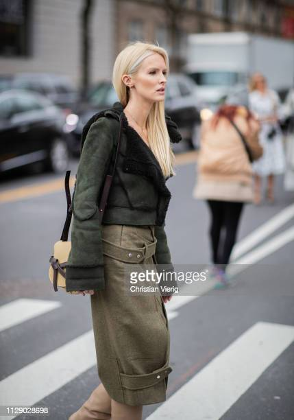 Kate Davidson Hudson is seen outside Carolina Herrera during New York Fashion Week Autumn Winter 2019 on February 11 2019 in New York City