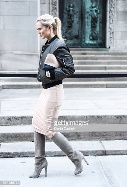 Kate Davidson Hudson is seen outside the Alexander Wang show during New York Fashion Week Women's Fall/Winter 2016 on February 13 2016 in New York...