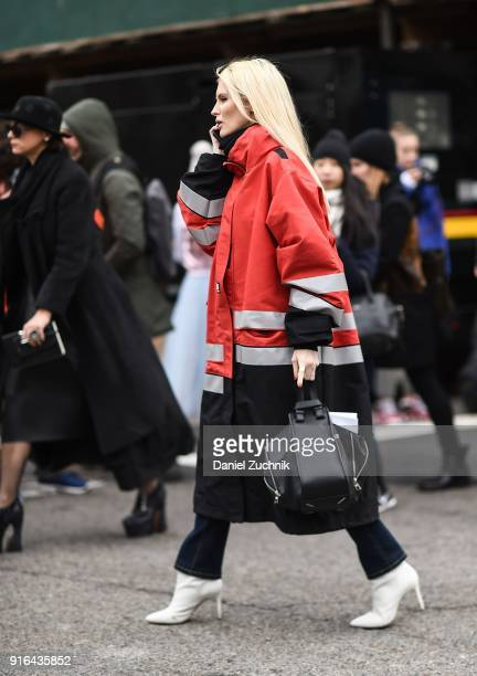 Kate Davidson Hudson is seen outside the Jason Wu show during New York Fashion Week Women's A/W 2018 on February 9 2018 in New York City