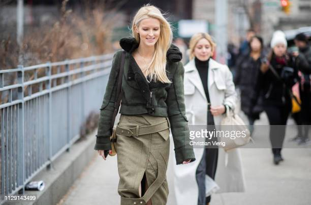 Kate Davidson Hudson is seen outside Zimmermann during New York Fashion Week Autumn Winter 2019 on February 11 2019 in New York City