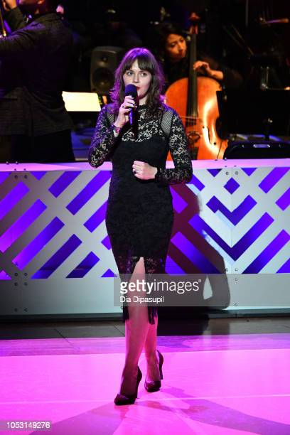 Kate Davis performs on stage during Lincoln Center Fall Gala at Alice Tully Hall on October 24 2018 in New York City