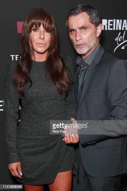 Kate del Castillo and Humberto Zurita attend the LA premiere of Telemundo's La Reina Del Sur Season 2 at Avalon Hollywood on April 09 2019 in Los...