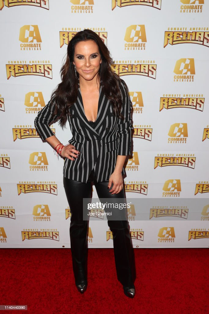 Superstar Kate del Castillo Announces Landmark Deal With Global MMA Brand Combate Americas At Press Conference In Los Angeles : News Photo