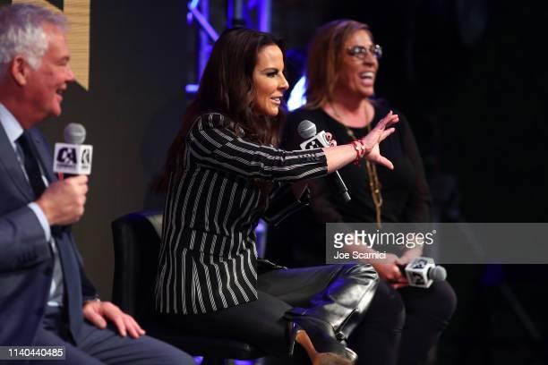 Kate del Castillo announces a landmark deal with global MMA brand Combate Americas at LA River Studios on April 04 2019 in Los Angeles California