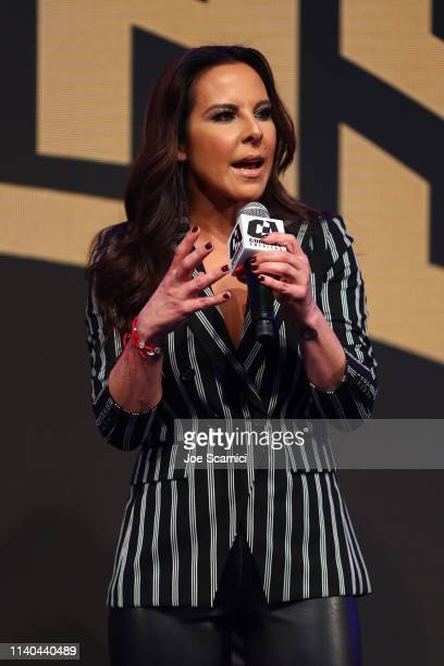 Kate del Castillo announces a landmark deal with global MMA brand Combate Americas at LA River Studios on April 04 2019 in Los Angeles California