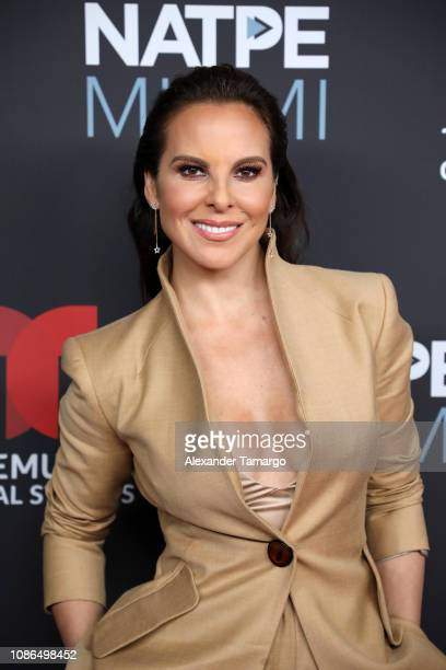 Kate del Castillo arrives at Telemundo Global Studios Celebration during NATPE Miami 2019 at the Eden Roc Hotel on January 22 2019 in Miami Beach...