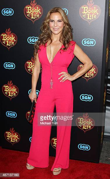 "Kate del Castillo arrives at the Los Angeles premiere of ""Book Of Life"" held at Regal Cinemas L.A. Live on October 12, 2014 in Los Angeles,..."