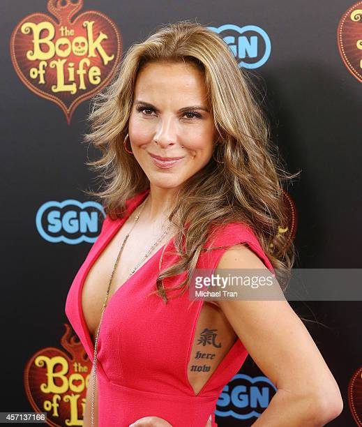 Kate del Castillo arrives at the Los Angeles premiere of Book Of Life held at Regal Cinemas LA Live on October 12 2014 in Los Angeles California